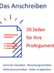 Bewerber-Services | Rolf Wurster. Das Anschreiben, Motivationsschreiben.